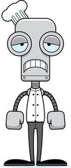 Cartoon Sad Chef Robot