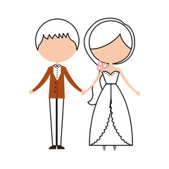 Married couple avatar characters vector illustration design