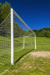 Soccer terrain in nature