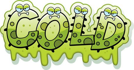Cartoon Slimy Cold Text