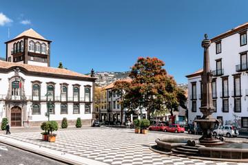 Funchal - Rathausplatz - Madeira Fototapete