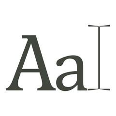 Typography icon, cartoon style