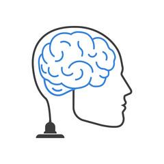 Brain on. Vector.