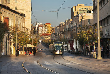Jaffa road in Jerusalem. Israel
