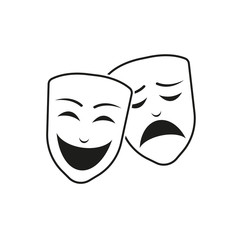 Theatre mask. Vector.