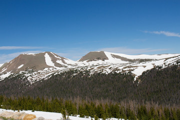 "Above the tree line, ""Top of the Rockies"" along Trail Ridge Road in Rocky Mountain National Park in Colorado"