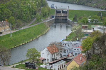 Zapora na rzece Dyja szlakiem św Klemensa Hofbauera