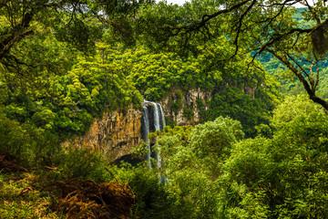 Waterfall in Caracol Park in Rio Grande do Sul, Brazil