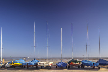 Sailing Yachts On Coastal Yard in Southend-on-Sea
