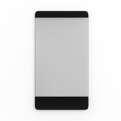 3d rendering of smartphone icon in new fasion stype on the white background