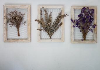 Dry flower picture frame