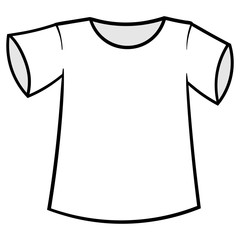 Cartoon T-Shirt Vector Illustration
