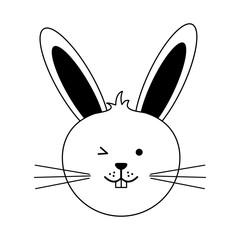 cute rabbit or bunny icon image