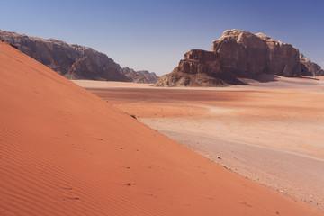 Sand dunes in Wadi Rum Jordan