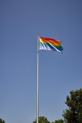 Famous landmark Pride Flag in San Diego, California