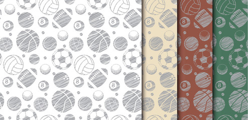 many ball sport backdrop