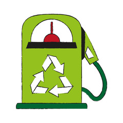 gas pump recycling related icon image
