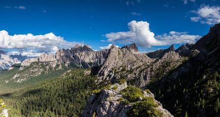 Panorama of summer mountains ridge