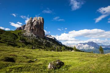 Summer alpine mountain rocky hills landscape