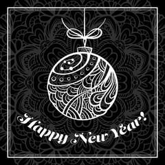 Vector Happy New Year card