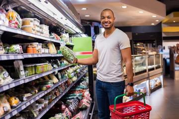 Man buying vegetables