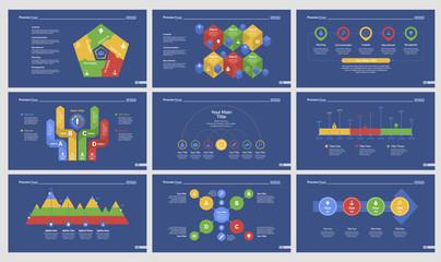 Nine Planning Slide Templates Set
