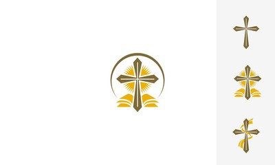 Church, Christian, Protestant, Catholic, people, place of worship, emblem symbol icon vector logo