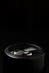 Photo of camera lens close-up