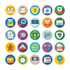 Seo and Digital Marketing Vector Icons 7