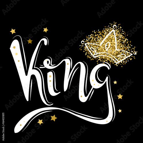 quotking logo template king icon word of the king and the