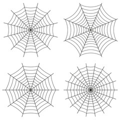 Spider web, vector set of icons.  Cute Gothic style.