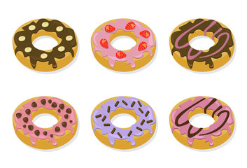Berry delicious donuts Sweet dessert lavender flavors