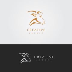 abstract head bull logo