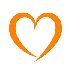 Red heart icon vector logo illustration