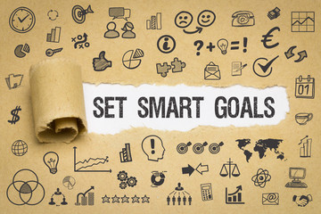 Set Smart Goals / Papier mit Symbole