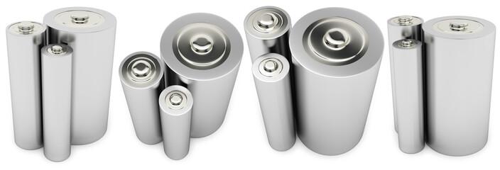 Three different type batteries