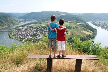 Debouts devant une boucle de la Moselle, Allemagne