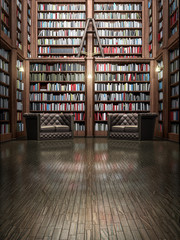library architecture 3d rendering