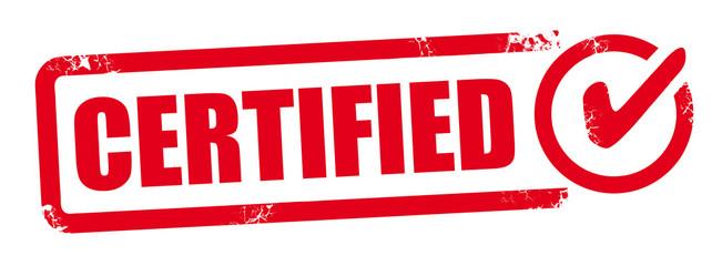 Vector certified stamp
