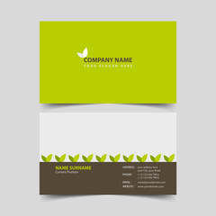 Eco friendly business card design template.