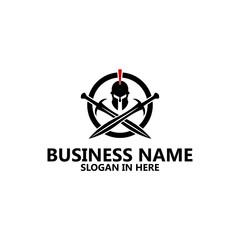 Spartan Warrior Logo template Design
