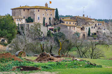View of Sant Mori village in Catalonia, Spain