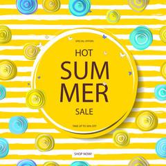 Summer discounts. Banner.