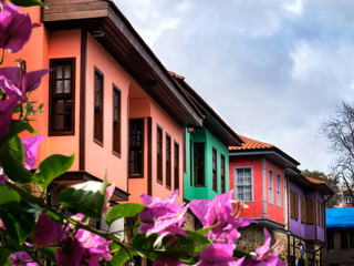close up from old town Architectural style in Antalya, Turkey