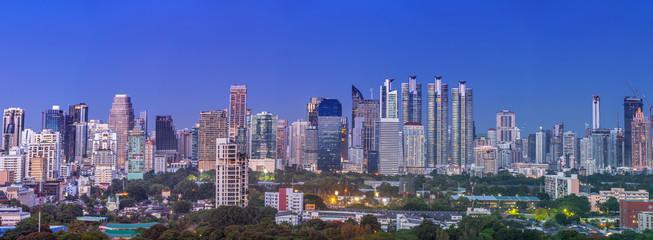 Panorama Bangkok city after sunset