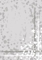 Vector drawn background with frame, border. Grunge template with splash, spray attrition, cracks. Old style vintage design. Graphic illustration. a4 size format, vertical orientation