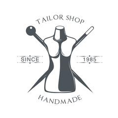 vector logo for tailor shop