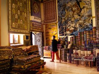 Hand made carpet store