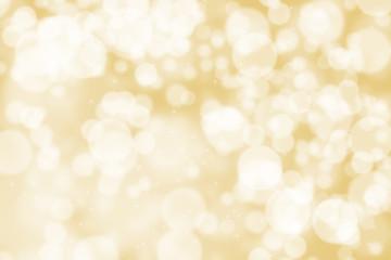 Abstract illustration bokeh light on golden background