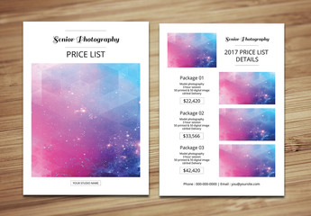 Photographer's Pricing Guide Layout 6